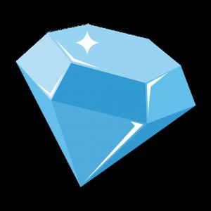 diamond 3d icon less